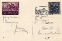 Österreich 1926 - 8+2 Gro (Ank489) + Vignette + Sonderstempel Auf Ak Wien Rathaus, Karte Gel.1926?