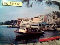 TURQUIE,TURKEI TURKEY BOSPHORUS, BEYKOZ NAVE SHIP FERRY STAMP TIMBRE RADIO LINK 100 PLANI 25 1975 GA12859 - Turchia