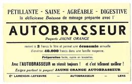 BUVARD AUTOBRASSEUR Poudre Pour Boisson De Menage , Ets Lamendin Levebvre A Lens  , Produit Alimentaire , - Food