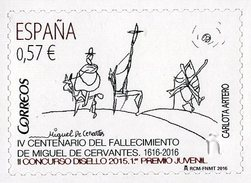 Spain - 2016 - Miguel Cervantes 400th Death Anniversary - Mint Self-adhesive Stamp - 1931-Aujourd'hui: II. République - ....Juan Carlos I