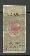 NEDERLAND Netherland Revenue Tax Plakzegel 6 Gulden O - Fiscaux