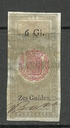NEDERLAND Netherland Revenue Tax Plakzegel 6 Gulden O - Fiscale Zegels