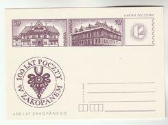 1978 POLAND Postal STATIONERY Illus ZAKOPANEM HISTORIC POST OFFICE Card Cover Stamps - Post