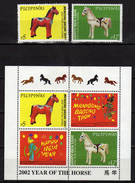 Philippines 2001 Chinese New Year - Year Of The Horse.S/S And Stamps.MNH - Filipinas