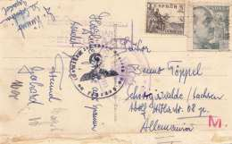 SAN SEBASTIAN - La Playa, Gel.194?, 2 Fach Fr., 3 Stempel, Zensur - Spanien