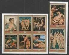 MANAMA - MNH - Art - Painting - Nudes - Imperf.