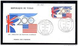 TCHAD A 162 Fdc Bicentenaire De L´indépendance Des USA , Drapeaux Union Jack , Stars And Stripes