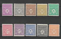 FRANCE 1944   Arc De Triomphe De L'Etoile  Série Complete 10 Timbres   YT 620/629  Neufs** Sans Charnière