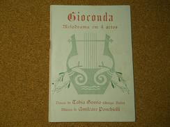Gioconda * Melodrama Em 4 Actos - Pubblicitari