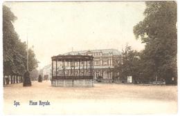 Spa - Place Royale - Colorisée - Cliché Rare - Sans éditeur - 1906 - Dos Simple