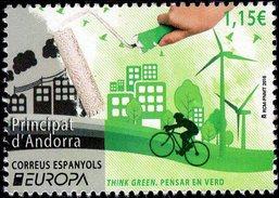Spanish Andorra - 2016 - Europa CEPT - Think Green - Mint Stamp