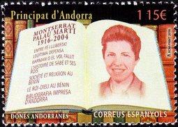 Spanish Andorra - 2016 - Women Of Andorra - Montserrat Palau Marti - Mint Stamp