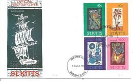 FDC  1987  ST.KITTS - Vlinders