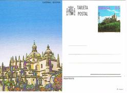 Spanien Bildpostkarte - Segovia, Burg, Dom, Castillo, Catedral, Castle, Cathedral, Architektur - Ganzsachen
