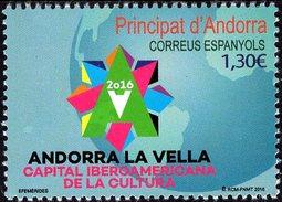 Spanish Andorra - 2016 - Andorra - Iberoamerican Cultural Capital  - Mint Stamp