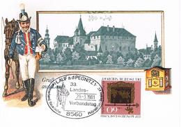Deutschland Sonderkarte Lauf An Der Pegnitz, Schloss, Postgeschichte, Pferd, Briefträger, Briefkasten