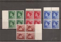 Grande-Bretagne ( 205/208 En Blocs De 4 XXX -MNH) - Unused Stamps