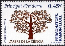 Spanish Andorra - 2016 - Ramon Llull - The Tree Of Science  - Mint Stamp