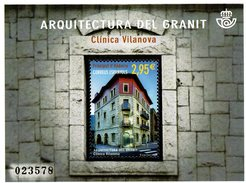 Spanish Andorra - 2016 - Architecture - Vilanova Hospital  - Mint Souvenir Sheet