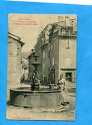 LORAC-Le Planet Une Femme Gros Plan à La Fontaine--édition Labouche-a Voyagé En 1916 - Florac