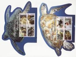 (026-27) Tonga   Tortoises Sheets / Bf / Blocs Tortues / Schildkröten    ** / Mnh  Michel BL 61-62 - Tonga (1970-...)
