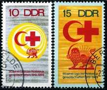 DDR - Michel 1466 / 1467 - OO Gestempelt (B) - Rotkreuzgesellschaften