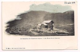 """73 - 22e Bataillon De Chasseurs Alpins - Au Mont Jovet - Imp. Ducloz Moutiers N° 34 - Cpa """"précurseur"""" Nuage 1903 - France"""