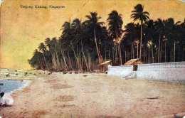 SINGAPUR - Scashore Of Taujong Katong, Alte Karte Um 193?, Knick - Singapore