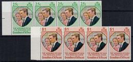 A0976 GRENADINES OF ST VINCENT 1973,  SG 1-2 Wedding Of Princess Anne,   MNH