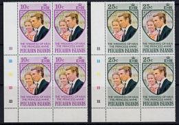 A5741  PITCAIRN ISLAND 1973, SG 131-2  Wedding Of Princess Anne,   MNH - Stamps