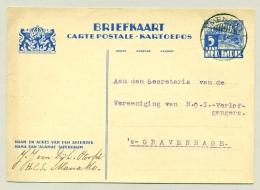 Nederlands Indië - 1935 - LB MENADO/3 Op 5 Cent Briefkaart Karbouwen, G56 - Nederlands-Indië