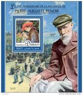 DJIBOUTI 2016 - Pierre-Auguste Renoir S/S. Official Issue