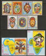 Equatorial Guinea 1977 Mi# 1111-1117, Blocks 259-260 ** MNH - African Masks