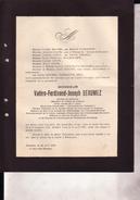 MORLANWELZ MARIEMONT Valère BEAUMEZ 1866-1930 Uccle PATERNOTTE Médecin Bureau De Bienfaisance Charbonnages - Décès