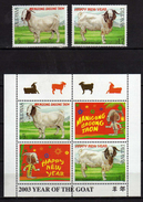 Philippines 2002 Year Of The Goat.S/S And Stamps.MNH - Philippines