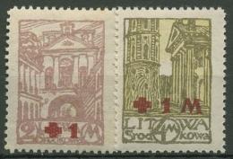 Mittellitauen 1921 Rotes Kreuz 29/30 A Postfrisch Gezähnt