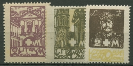 Mittellitauen 1921 Weißes Kreuz 31/33 A Postfrisch Gezähnt