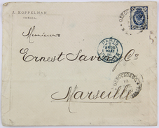 Russia, Cover / Enveloppe 1886, Odessa --> Marseille, Affr. 7 Kopek, Via Paris - 1857-1916 Imperium