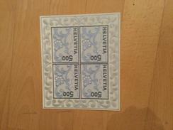 Schweiz, Helvetia, Switzerland, Suisse, Svizzera 2000, Postfrisch, Mi. 1726 MNH, First Embroidery Stickereiblock NABA