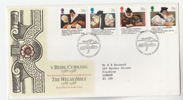 1988 GB FDC WELSH BIBLE RELIGION  Stamps  Cover Christianity - Christianity