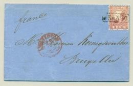 Nederland - 1868 - 10 Cent Willem III 3e Emissie Op Vouwbriefje Van Amsterdam Naar Brussel / België - 1852-1890 (Guillaume III)