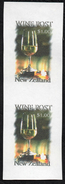 New Zealand Wine Post Chardonnay Glass Of Wine Imperf Proof Pair. - New Zealand
