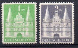 1857  -  ALLEMAGNE BIZONE  N° 65/66** La Holstentor De Lübeck   Type  I   TTB