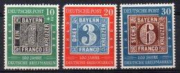 1859 -  ALLEMAGNE BIZONE  N° 76/78**  Centenaire Du Timbre Allemand    SUPERBE