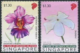 Singapore (2016) - Set -   /  Pakistan Joint Issue - Orchids