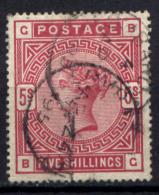 Gran Bretagna 1883 5s. Unif. 87 Usato/Used VF/F