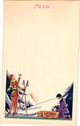1 Carte Menu MENU CARD SKI Sci Sport Champagne Piper - Heidsieck Reims 24,6cmX15,7cm - Winter Sports