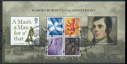 GROSSBRITANNIEN GRANDE BRETAGNE GB  2009 Robert Burns MS  SG MS2932-37 SC SH2625 MI B48-2705-06 YV BF61-3090-91