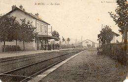 CPA 71 - St. BOIL - La Gare Très Abîmée