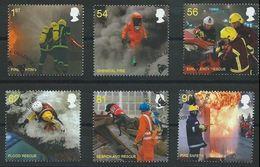 GROSSBRITANNIEN GRANDE BRETAGNE GB 2009 The Fire Service Set Of 6  SG 2958-63 SC 2681-85 MI 2791-96 YV 3176-81